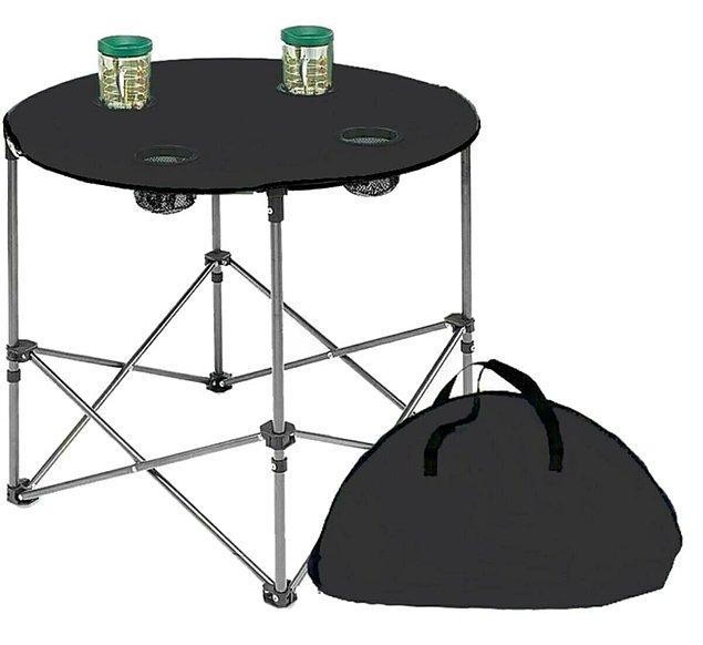 7. Bardaklıklı bez masalar da epey kullanışlı oluyor.