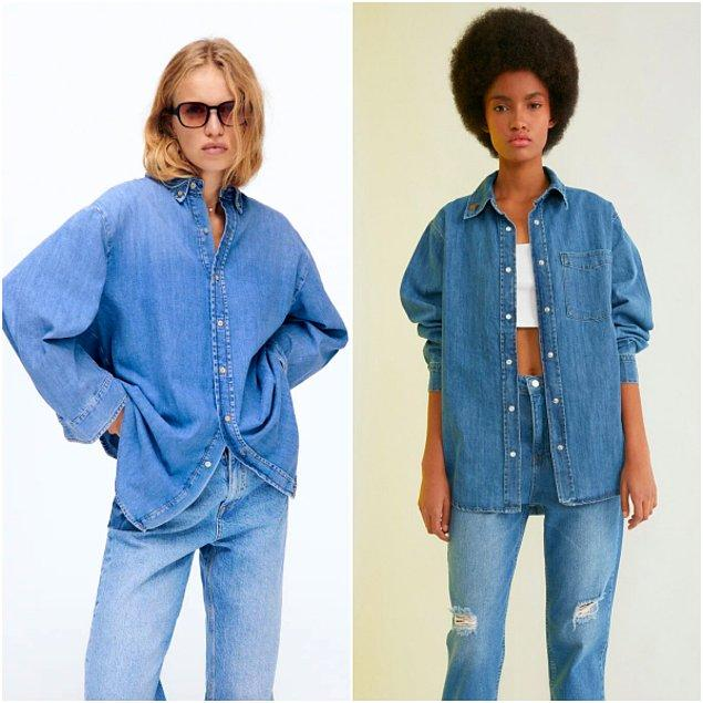 8. Zara'daki denim gömleğe 300 TL vermek yerine, Trendyolmilla'dan indirimli 112 TL'ye alabilirsiniz...