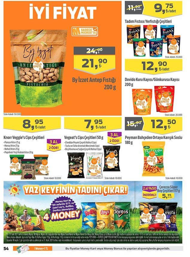 36. Knorr Veggie's cips çeşitlerinde 3 al 2 öde kampanyası var.