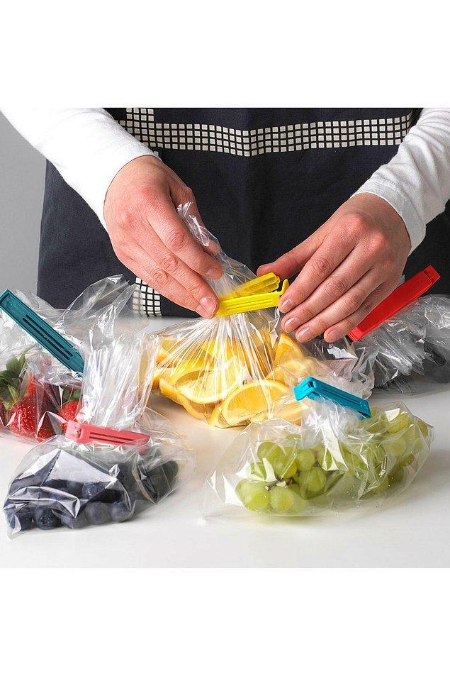 9. Büyük ve küçük toplam 30 tane mandaldan oluşan bu set, evdeki yiyeceklerinizi bozulmadan saklamanın en pratik yolu.
