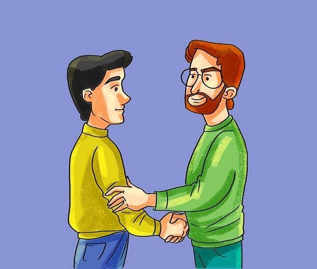 13. Dokunarak el sıkışma