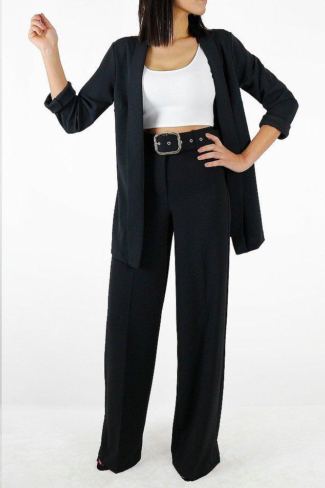 9. Özellikle yüksek bel ve koyu renkli pantolonlar tam size göre!