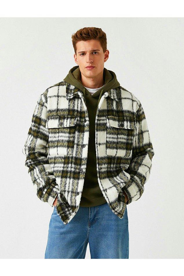 14. Oduncu gömlek görünümlü ceket çok havalı...