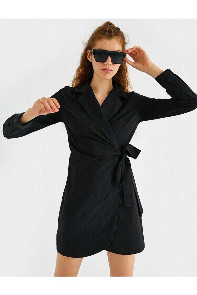 10. Gömlek yaka elbiseyi ister işe giderken giyin, ister günlük olarak.