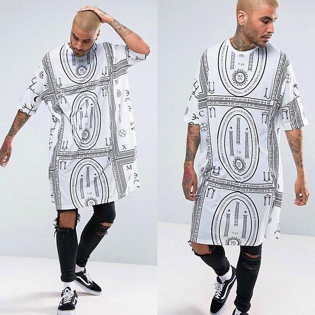 1. Rahat görünen bir tişört. Yoksa elbise mi demeliydik?