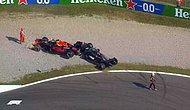 Halo Sayesinde Kurtuldu: İtalya GP'de Max Verstappen'in Aracı, Hamilton'ın Üstüne Çıktı...