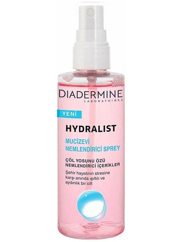 5. Diadermine'nın bu sprey nemlendiricisi çok pratik olabilir.