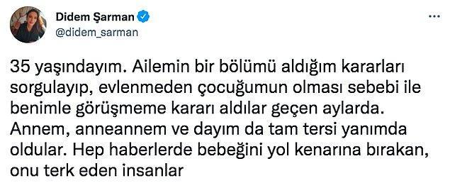 Astrolog Didem Şarman da o bekar annelerden sadece bir tanesi. Twitter'dan bu konuyla ilgili biraz içini döktü. Bizler de sizinle paylaşmak istedik.