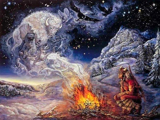 Şaman uygulamalarında dünyada gökyüzü, yeryüzü ve yeraltı olmak üzere üç kozmos düzeyi olduğu düşünülür. Ayrıca Kuzey Asya halklarında insanların 3-7 canı olduğuna inanılır.