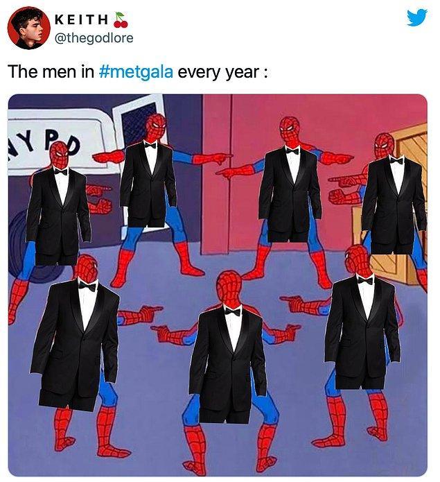 """8. """"Her yıl Met Gala'daki tüm erkekler."""""""