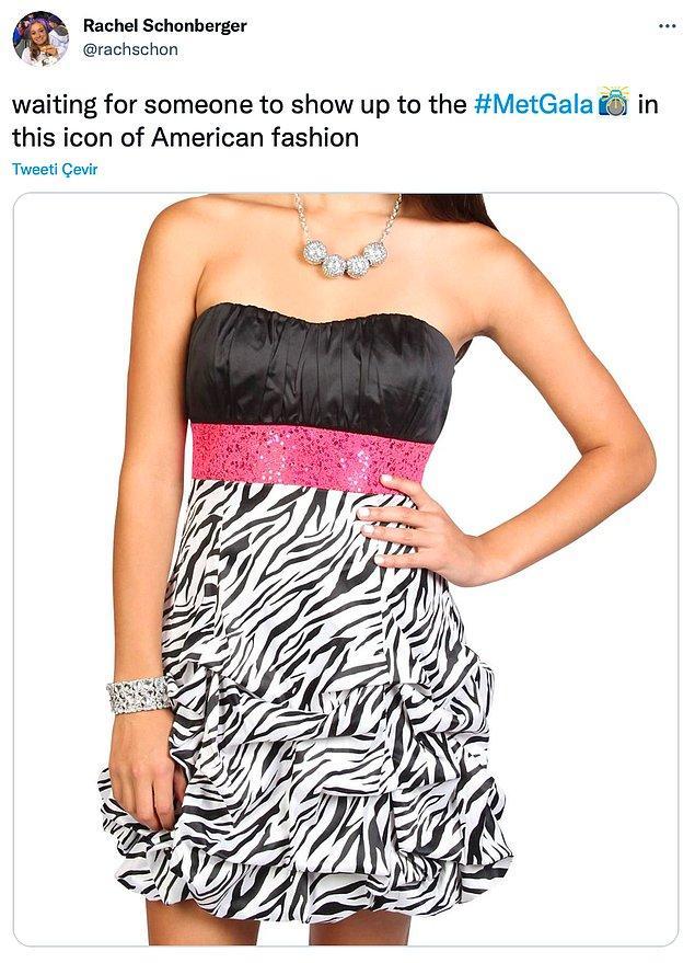 """10. """"Amerikan modasının bu ikon parçasıyla birinin Met Gala'ya gelmesini bekliyorum."""""""