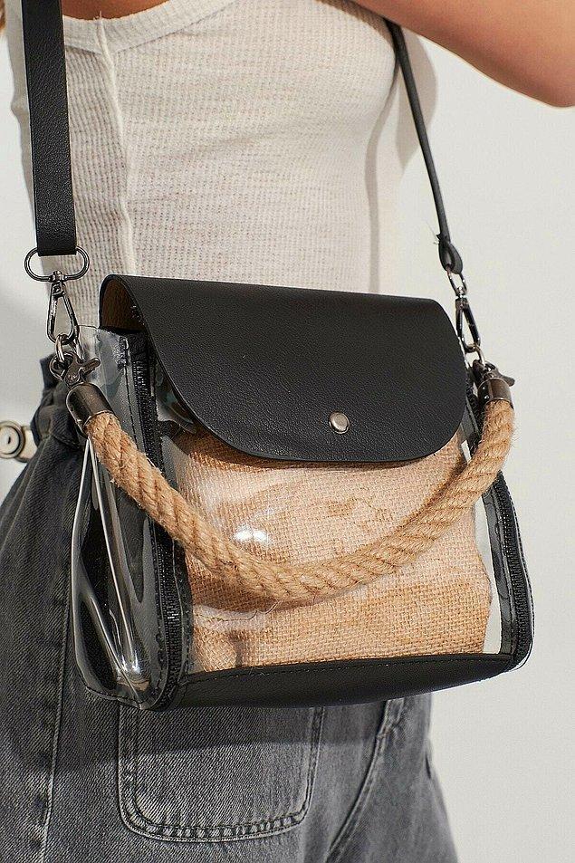 2. Bu farklı kumaşların birleşiminden oluşan çantada çok güzel.