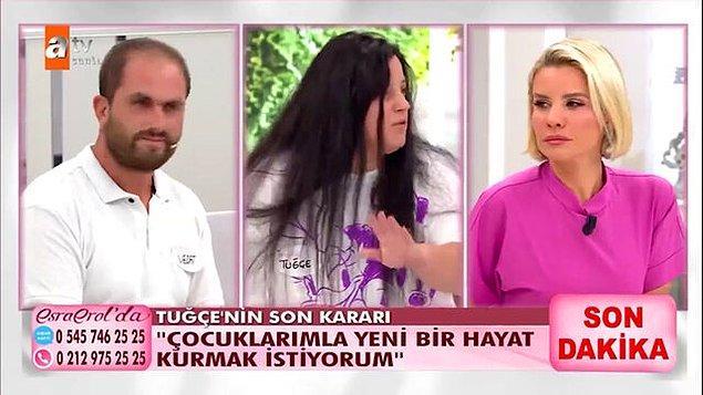 Geçtiğimiz günlerde, evden kaçan eşini bulmak isteyen Vedat Türkoğlu eşi Tuğçe Türkoğlu için Esra Erol'a başvurdu.