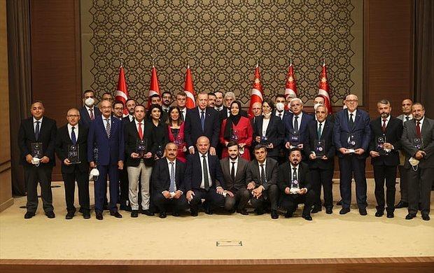 Erdoğan 'Medya Ödüleri'ni Dağıttı: Fahrettin Altun, Hilal Kaplan, Abdulkadir Selvi...