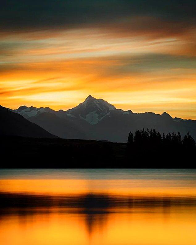 11. Mount D'Archiac Dağ'ında günbatımı...