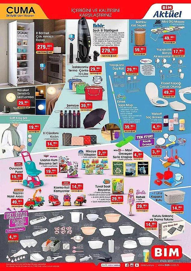 Plastik ürünlerde tek fiyat kampanyası var. Her biri 4,50 TL.