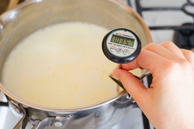 2. İdeal yoğurt mayalama sıcaklığı 41 derece.