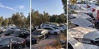 'Hepsi Satıldı, Stokta Araç Yok' Laflarına İsyan Eden Vatandaş Yüzlerce Aracın Bekletildiği Alanı Görüntüledi