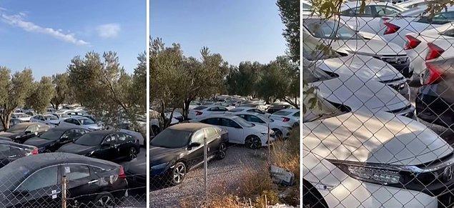 O sözlerle karşılaşan bir vatandaş da duruma isyan ederek bir alandaki araçları kaydetti. O vatandaşın iddiasına göre ise alanda bulunan onlarca aracın hepsi 0 araç.