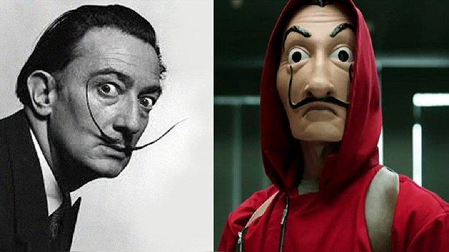 9. Dizide kullanılan maskelerde İspanyol ressam Salvador Dali'nin yüzü var. Yapımcılar Dali'nin risk almayı seven karakterinden esinlenmişler.