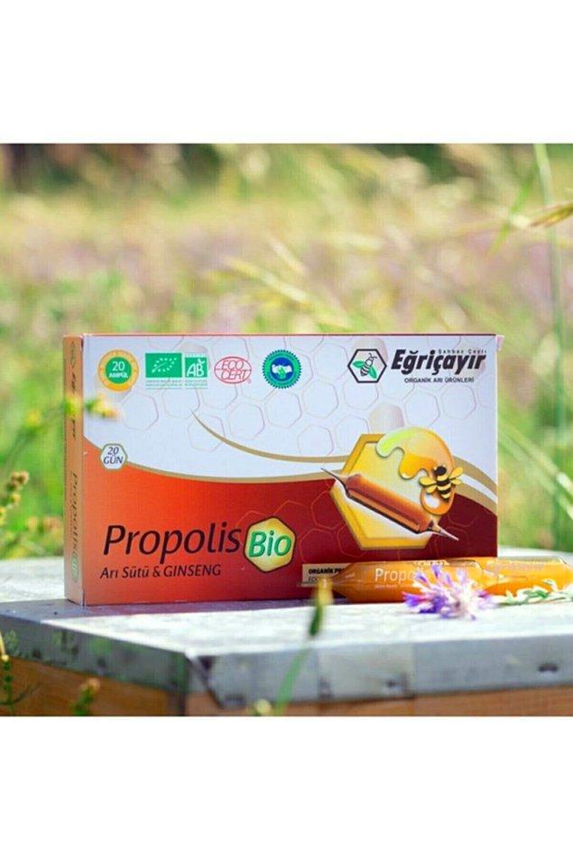 13. Propolis takviyeleri ampül şeklinde de satılıyor.
