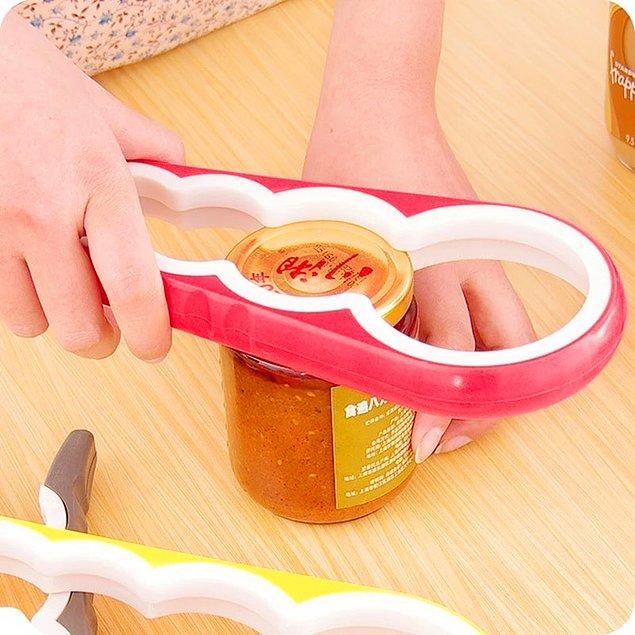 Bu kavanoz ve şişe kapağı açıcı ile açılmayan kapaklarla artık mücadele etmenize gerek kalmayacak.