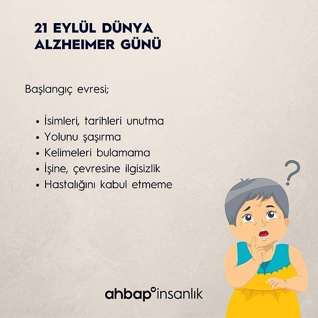 Alzheimer'ın ilk evrelerindeki belirtiler nelerdir?