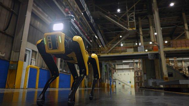 Spot yeni videosunda Hyundai'nin fabrikasında güvenlik görevlisi olarak işe başladı.