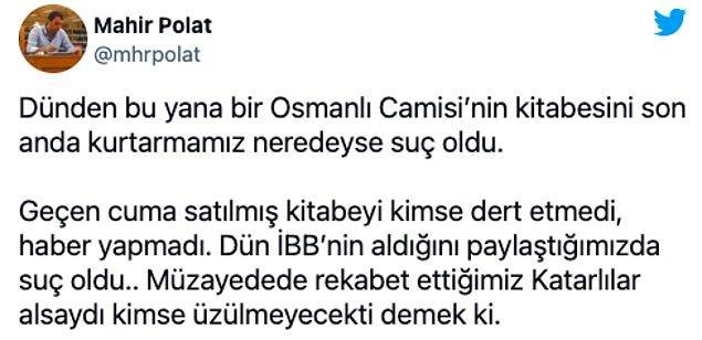 Mahir Polat, Beştepe'den gelen eleştiriler sonrası bir açıklama yaptı.