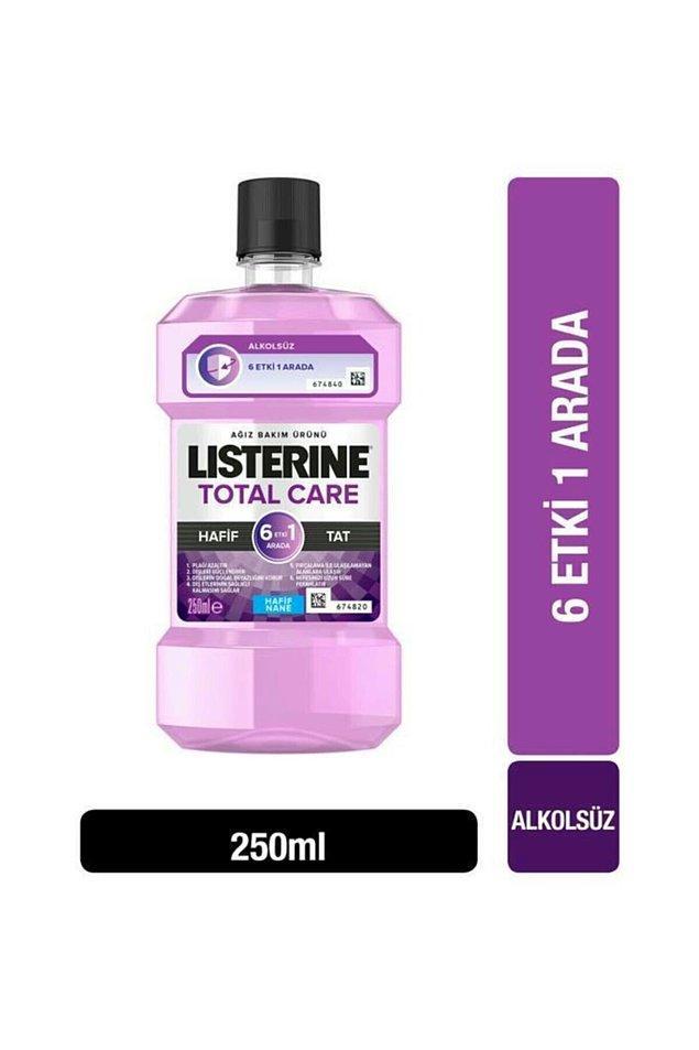 10. Alkolsüz özelliği ile herkesin rahatlıkla kullanabileceği Listerine ağız bakım suyu.