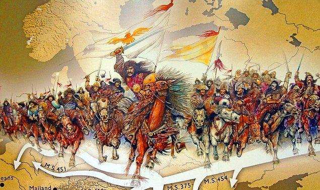 6. Hunların Avrupa'ya gelişi ve ardından başlayan kavimler göçü.
