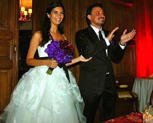 """Tuba Büyüküstün, """"Gönülçelen"""" dizisinde aşk yaşamaya başladığı meslektaşı Onur Saylak ile 2011'de Paris'te evlenmişti."""