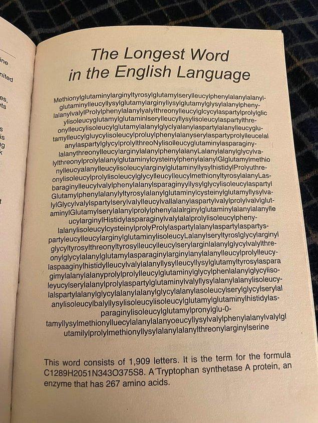 2. İngilizcedeki en uzun kelime 1909 harften oluşur.
