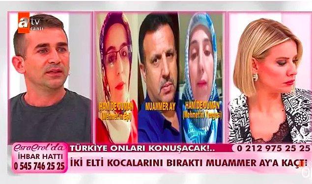 Bundan aylar önce Esra Erol'a katılan Mehmet Duman,  yufkacı Muammer'e kaçan eşi Hamide Duman'ı ve yengesi Hamide Duman'ı aramak için Esra Erol'a başvurmuştu.