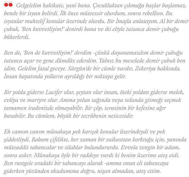 Halikarnas Balıkçısı, sonraları Azra Erhat'a yazdığı mektupta o geceyi şöyle anlatır: