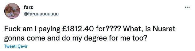 """""""1812.40 pound'ı ne için ödüyorum? Nusret gelip benim yerime mi okuyacak?"""""""