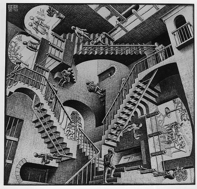 7. Merdivenlerde ise Hollandalı ressam M.C. Escher'in Relativity eserinden esinlenilmiş.