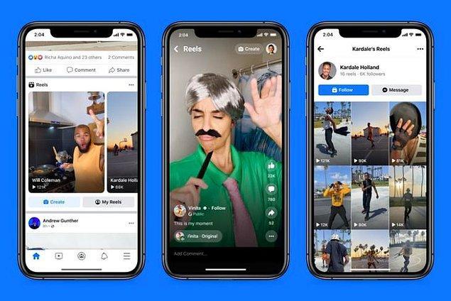 Bonus sisteminin yanı sıra Facebook'ta yayınlanabilen bu Reels videoların daha geniş kitlelere yayılması ve doğal olarak da daha fazla markayla işbirliği yapması planlanıyor.