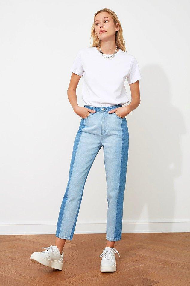 8. Normalden farklı bir pantolon arıyorsanız bu jean'e bir şans verebilirsiniz.