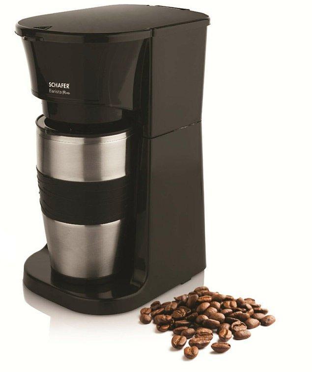 8. Evinize küçük bir kahve makinesi alacaksanız Schafer'a bir bakın.
