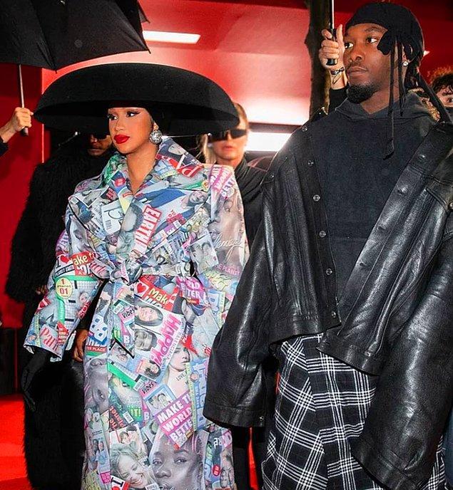 4. Cardi B'nin Paris Moda Haftası'nda giydiği kıyafet herkesi şaşırttı!
