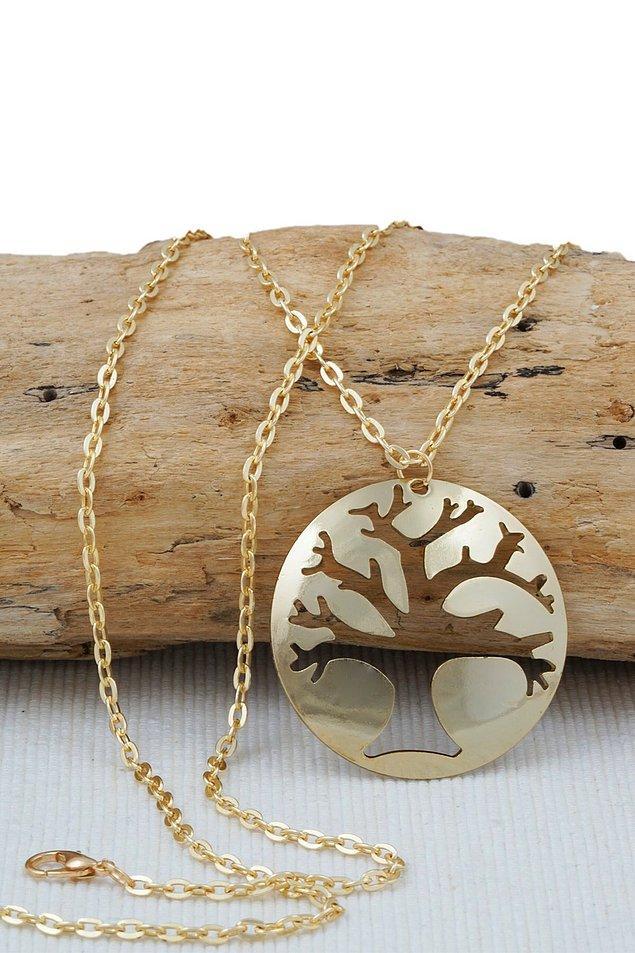 6. Hayat ağacı tasarımları kolyelere çok yakışıyor.