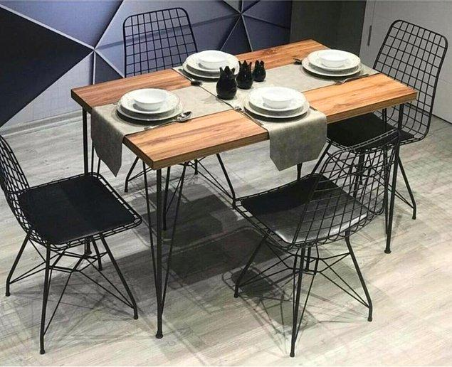 9. Bu masayı güzel yapan sandalyeleriyle gönderiliyor olması!