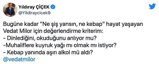 Milor'un bu eleştirisine MHP tarafından ilginç bir cevap geldi.