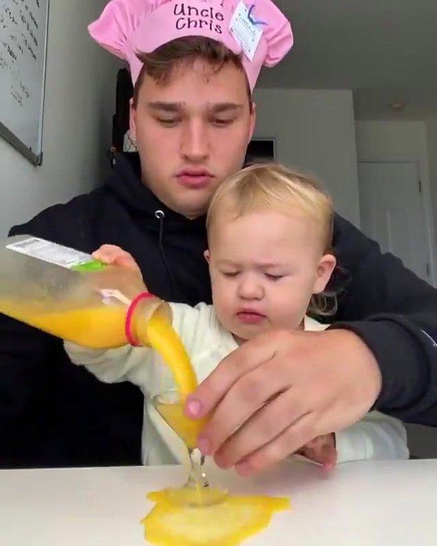 'theyeetbaby' olarak bilinen ve içecekleri döktüğü videolarıyla tanınan Marleigh Grant, 1 milyondan fazla takipçiyle en fazla kazanan ikinci bebek oldu.