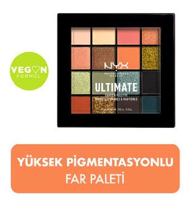 8. Kış makyajına renk katacak NYX Professional Makeup Utopia Ultimate far paleti