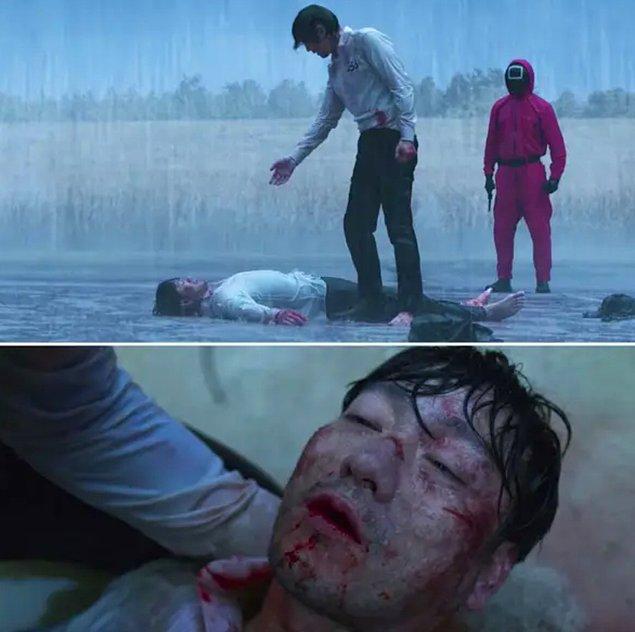 11. Ve son olarak 9. Bölümde Sang-woo'nun yağmur yağarken kendini öldüreceğinin ipucu 2. bölümde veriliyor.