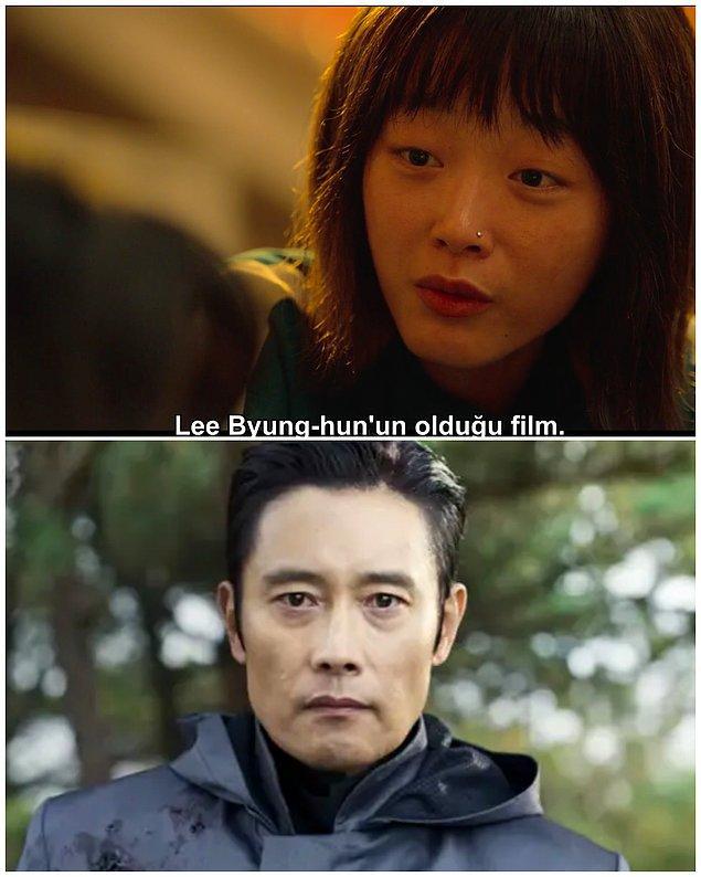 5. Yönetici karakterinin aslında oyuna gizlice giren Jun-ho'nun kardeşi çıkması oldukça şaşırtıcıydı. Ancak, aslında bununla ilgili bir ipucu verilmişti. Yönetici'yi canlandıran Lee Byung-hun'dan 6. bölümde bahsediliyor. 👇