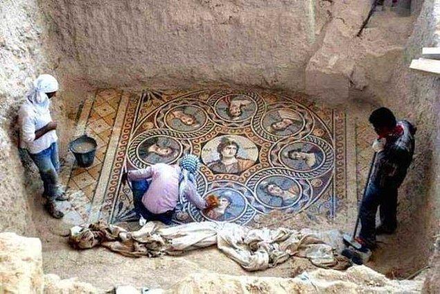 7. Tarihin saklı olduğu ülkemizde, Zeugma'da bulunan 2000 yıllık mozaik.