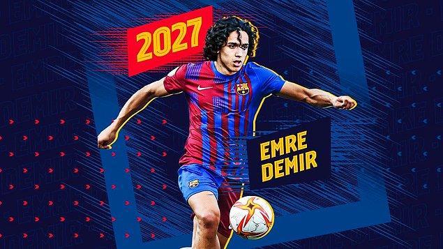 Kayserispor forması giyen ama Barcelona'ya transfer olarak Ocak'ta Barça'ya katılacak olan Emre Demir listede yer aldı.